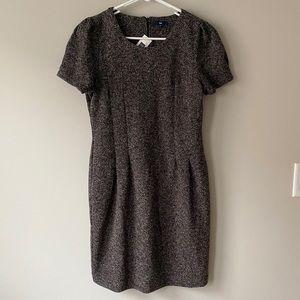 Gap Marled Black/White Cap Sleeved Dress NWT